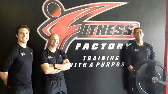 Personal trainers, Bradley Grant-Smith, Andrew Grant-Smith and Asghaab Job (AJ)